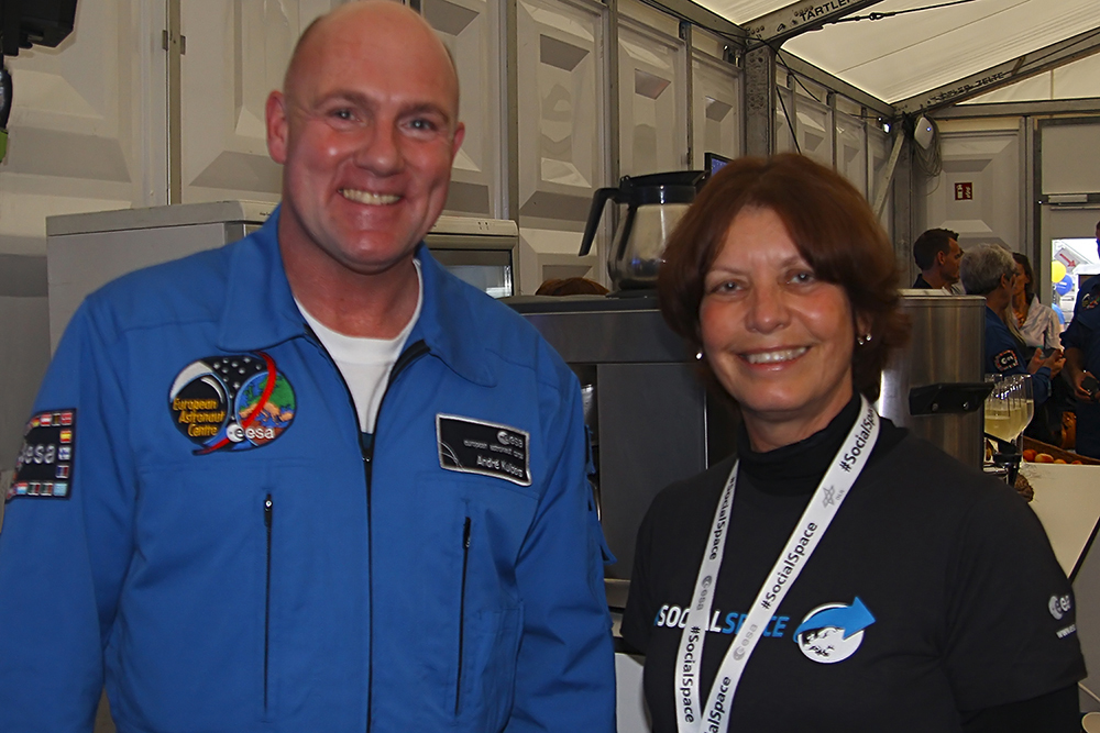 Lynn with André Kuipers